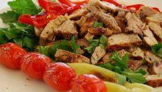 Χοιρινή παντσέτα στο τηγάνι με ξύσμα εσπεριδοειδών Cobb Salad, Beef, Chicken, Recipes, Food, Meat, Eten, Recipies, Ox