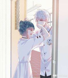 Otaku-Univers is the best place for anime sharing Japanese otaku culture , information, news from all over the world Anime Love Story, Anime Love Couple, Manga Love, Anime Couples Drawings, Anime Couples Manga, Romantic Anime Couples, Kawaii Anime Girl, Anime Art Girl, Anime Girls