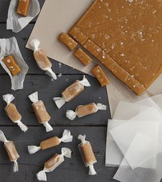 Homemade caramels make a fantastic edible gift to give to friends and family – these are sprinkled with sea salt providing a lovely contrast to the sweet caramels.