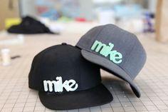 Glow-in-the-dark 3D-printed-name hat