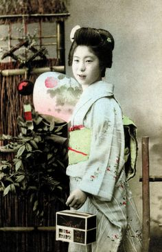 A Young Geisha with a Firefly Cage 1900. Via Blue Ruin1 on flickr