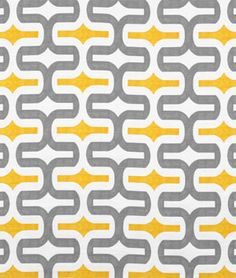 Premier Prints Embrace Storm/Corn Yellow Slub Fabric | onlinefabricstore.net