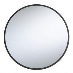 Round Black Sana Mirror - v1
