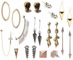 love love love the edgy accessories. you could do a really cute & chic outfit but adding these types of accessories will give it the little edge we're looking for but keeping it feminine.