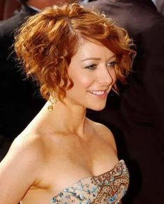 Image result for short curly hair style