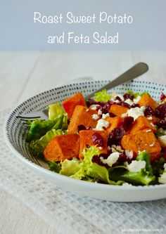 Roast Sweet Potato and Feta Salad, plus a giveaway to win a copy of A Salad for All Seasons by Harry Eastwood.