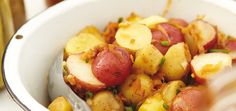 Salade de pommes de terre au bacon Recettes | Ricardo     Délicieux!!