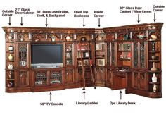 Home office entertainment room designs home office library wall units house home office library entertainment wall . home office entertainment room designs Library Corner, Library Wall, Library Design, Grand Library, Corner Office, Study Design, Corner Wall, Desk Office, Office Spaces