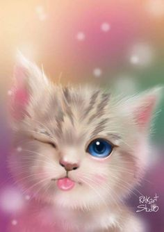 58 ideas for cats cute art kittens Tier Wallpaper, Cute Cat Wallpaper, Cute Wallpaper Backgrounds, Animal Wallpaper, Cute Cartoon Wallpapers, Disney Wallpaper, Baby Wallpaper, Food Wallpaper, Travel Wallpaper