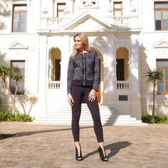Slay in this warm grey jacket and leggings from Contempo Retail! Shop now at www.contemposhop.co.za Warm Grey, Retail Shop, Gray Jacket, Slay, Shop Now, Career, Leggings, Jackets, Shopping