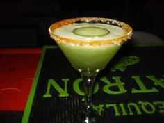 My famous Cucumber Martini. Made by Damien The Intoxicologist Filth