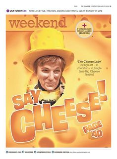 """""""Say Cheese!"""" Cincinnati Enquirer Weekend designed by Clay Sisk. (02.12.16) #newsdesign"""