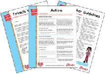 Friends Who Care ® Disability Awareness Curriculum is designed to help children better understand what it means to live with a disability, and to encourage children to accept differences. It explains what differing disabilities are, and provides hands-on activities to help children learn how people with disabilities live independent, everyday lives. This effort is sponsored by Friendly's and the curriculum offerings are in the form of free downloadable/printable PDFs.