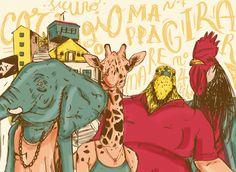 Mondo Metro - Animal Collective by Fabio Persico, via Behance