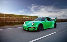 RWB Porsche in motion