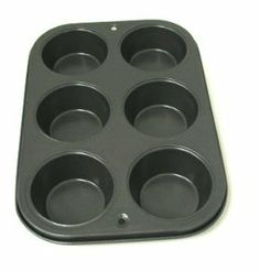 """Non-stick 6-cup Muffin Pan by hahaplace. $7.99. Easy to clean. Non-stick coated inside and out. Non-stick coating makes baking easier. Pan Size: 11"""" x 8"""" Cup Size: 3"""" dia., 1 1/2"""" deep"""
