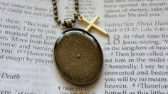 Mustard Seed Necklace - Mustard Seed Faith - Christian Jewelry - $18 - Faith Of A Mustard Seed - Baptism - Matthew 17 20 - Antique Bronze Necklace
