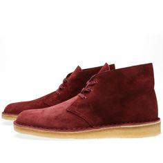 Clarks Originals x Concepts Desert Palmer (Burgundy) Clarks Desert Boot, Desert Boots, Androgynous Fashion Women, Clarks Originals, New Bag, Winter Wardrobe, Style Me, Burgundy, Footwear