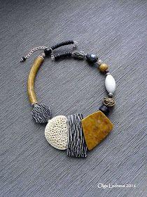 Cernit d& polymère Ceramic Jewelry, Wire Jewelry, Jewelry Crafts, Jewelry Art, Beaded Jewelry, Jewelery, Handmade Jewelry, Fashion Jewelry, Jewelry Design