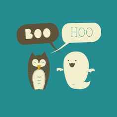 Boo Hoo Stretched Canvas