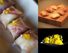If you like to take a crack at Molecular Gastronomy, try this Air Baguette Caviaroli Olive Oil Caviar by Chef Nandu Jubany