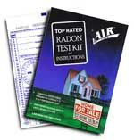 """Radon Test Kits only $14.95. No extra charges - everything is included! – Certified laboratory report. – """"Same day"""" reports via e-mail, web, and by mail.  – Postage and return mailer included for air test kits."""