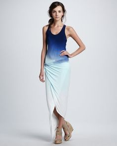 Young Fabulous and Broke - Sassy Sunset Ombre Maxi Dress