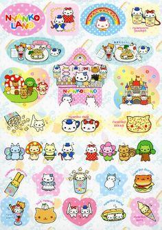 Nyan Nyan Nyanko - Kawaii Stickers