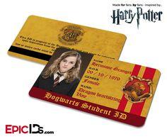 Harry Potter Inspired Hogwarts Student ID (Gryffindor) - Hermione Granger