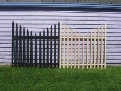 """My DOLLAR 20 Graveyard Fence - halloween yard decor on the cheap! Halloween Outside, Outdoor Halloween, Spooky Halloween, Holidays Halloween, Halloween Crafts, Halloween Stuff, Halloween 2017, Diy Halloween Fence, Diy Halloween Decorations Cheap"