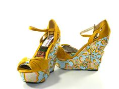 Tees designs — Sky Gold Ankara Shoe