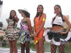 Vestidos con material Reciclados Milagroz Mondoñedo - Imagui
