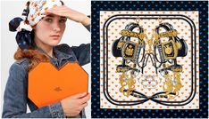Take a look at the Hermès limited edition Brides de Gala Love scarf