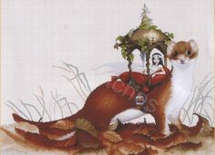 FERRET LITTER FAIRY PASCAL MOGUEROU CROSS STITCH CHART LENA LAWSON