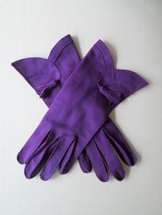Color Morado - Purple!!!  vintage gloves