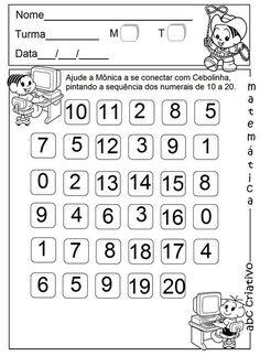 Coleção Jardim da Infância - Matemática 2º semestre - ABC MUSICAL KID'S Subtraction Worksheets, Kindergarten Math Worksheets, Teen Numbers, Math Numbers, Math For Kids, Activities For Kids, Montessori Math, Free Printable Worksheets, Math Lessons