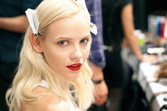 Just so glam!  Backstage Beauty London Fashion Week Spring 2013 - Beauty Trends Fashion Week Spring 2013 - Harper's BAZAAR