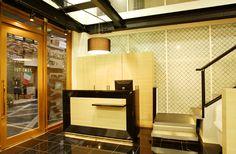 Beauty salon interior design ideas | + hair + space + decor + designs + Tokyo + Japan | Follow us on https://www.facebook.com/TracksGroup   <<<【YUME・YUI レセプション】ホテルのフロントのようなスタイル。 美容室 内装