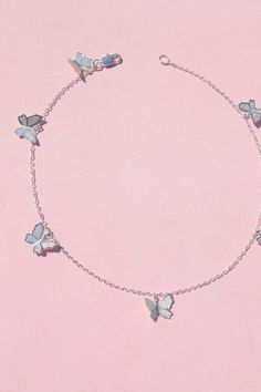 This silver butterfly Necklace is perfect for every day wear charms (about Silver chain & charms are silver plated brass Maybe this'll give the person you like a hint? accessories silver You Give Me Butterflies Necklace Cute Jewelry, Jewelry Accessories, Fashion Accessories, Jewelry Necklaces, Fashion Jewelry, Charms For Necklaces, Emo Jewelry, Silver Necklaces, Butterfly Jewelry