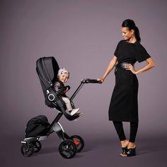 All Black Modern Chic Luxe Stroller - Stokke Xplory True Black