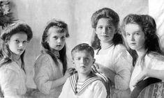 Famille Romanov enfants de Nicolas II : Olga- Marie - Tatiana - Anastasia - Alexis -tous exécutés en juillet 1918 !!!!!