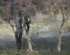 "Small Oaks by Simon Addyman Oil ~ 8"" x 10"""