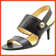 Coach Women's Marla Turnlock Dress Sandals, Black, Size 6.5 (*Partner Link)