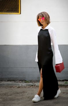 long slip dress, slip dress outfit, fall outfit ideas,