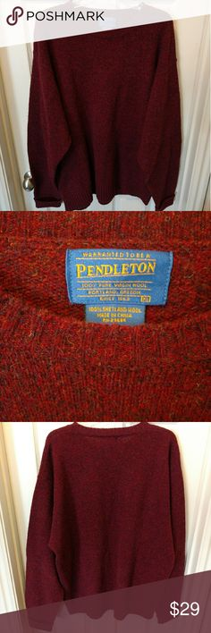 """PENDLETON MEN'S 100% SHETLAND WOOL SWEATER PENDLETON MEN'S 100% SHETLAND WOOL SWEATER   SIZE XL ARMPIT TO ARMPIT: 26"""" SHOULDER TO CUFF: 29"""" COLLAR TO HEM: 29.5""""  EUC WITH NO RIPS TEARS OR STAINS  #504 Pendleton Sweaters Crewneck"""
