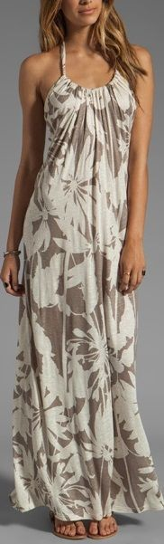 I want a maxi in every solid color & every pretty print..ever...This looks so easy to make.