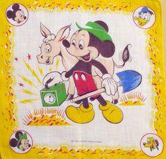 50's Vintage Mickey Hanky