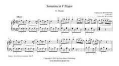 Beethoven : Sonatina in F Major, Anh. 5 - Rondo www.sheetmusic2print.com/Beethoven/Sonatina-F-Major-Rondo.aspx