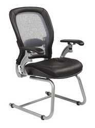 Professional AirGrid Back Visitors Chair with Platinum Finish Accents with Cantilever Arms N270-3685