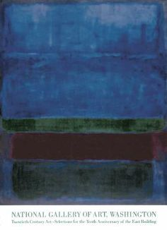 Mark Rothko - Blue, Green, and Brown
